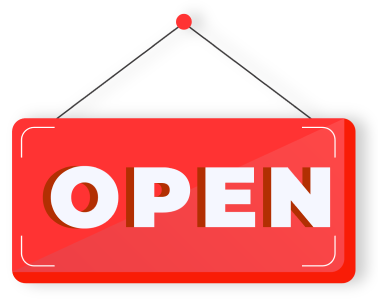 Open at